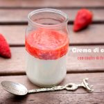 Crema di cocco con coulis di fragole, senza latte (vegan)