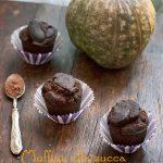 Muffin alla zucca con cacao, #vegan e #gluten-free