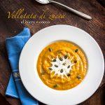 Vellutata di zucca al curry e cocco con semi di zucca, #vegan e #glutenfree