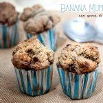 Banana muffin di sorgo con gocce di cioccolato