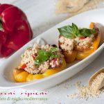 Peperoni ripieni di insalata di miglio mediterranea #glutenfree