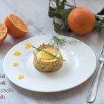 Sformatini di broccoli con pinoli, uvetta e salsa all'arancia di Antonio Scaccio