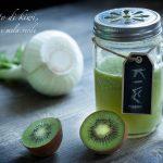 Estratto aperitivo e depurativo di kiwi, finocchio e mela verde,