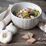 Zuppa di cime di rapa e fagioli borlotti