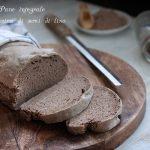 Pane integrale con farina di semi di lino