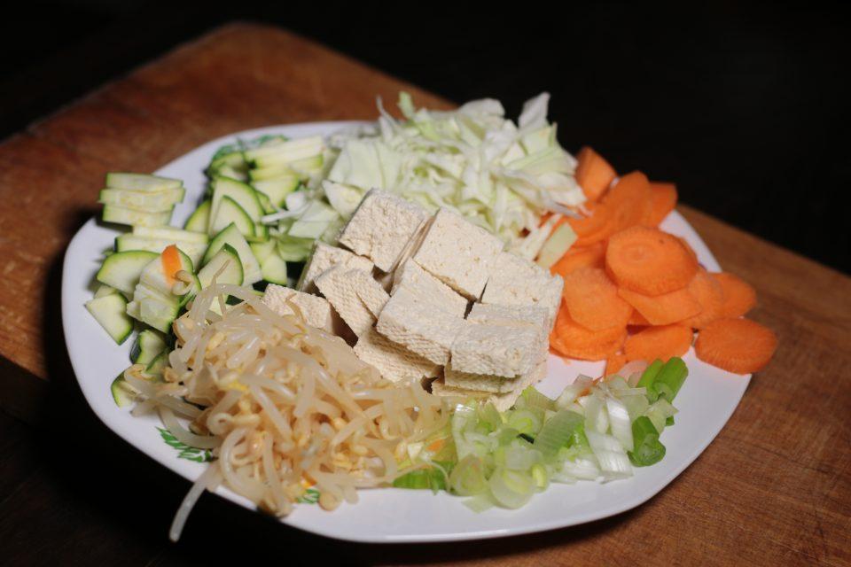 Tofu saltato con verdure