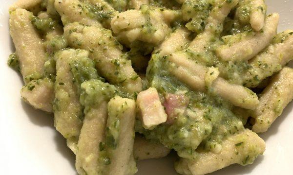 PASTA FRESCA zucchine e pancetta – SENZA NICHEL, GLUTINE E LATTOSIO
