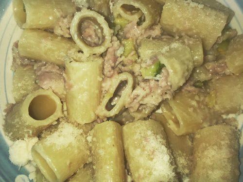 Pasta Zucchini,prosciutto cotto e gorgonzola