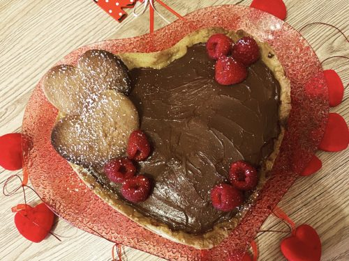 Crostata cuore di San Valentino