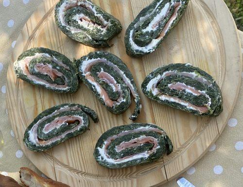 Rotolo di spinaci e salmone