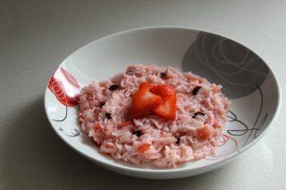 risotto con fragole e glassa aceto balsamico