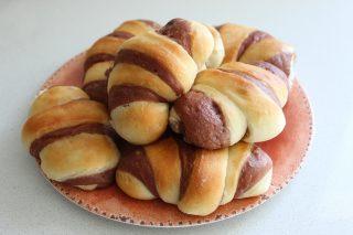 cornetti pan brioche bicolore