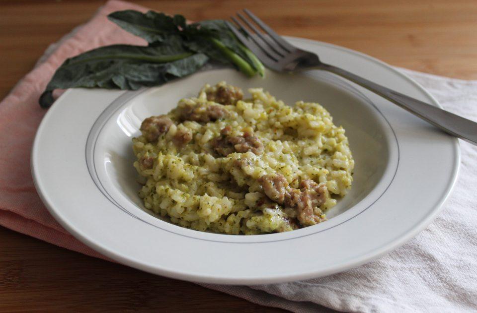 risotto crema di broccoli e salsiccia