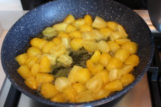 cottura pomodorini gialli