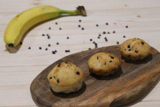 muffin alle banane con gocce di cioccolato