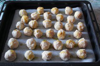 polpette di patate con prosciutto cotto e emmenthal