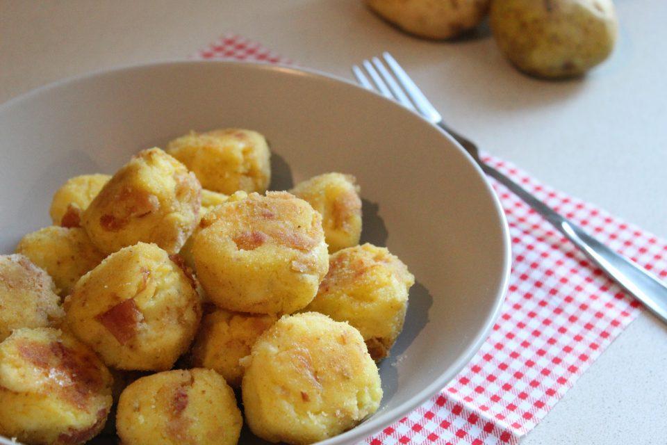 polpette di patate con prosciutto e emmental