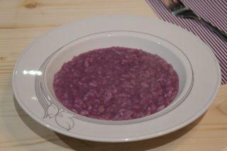 risotto alla crema di cavolo viola