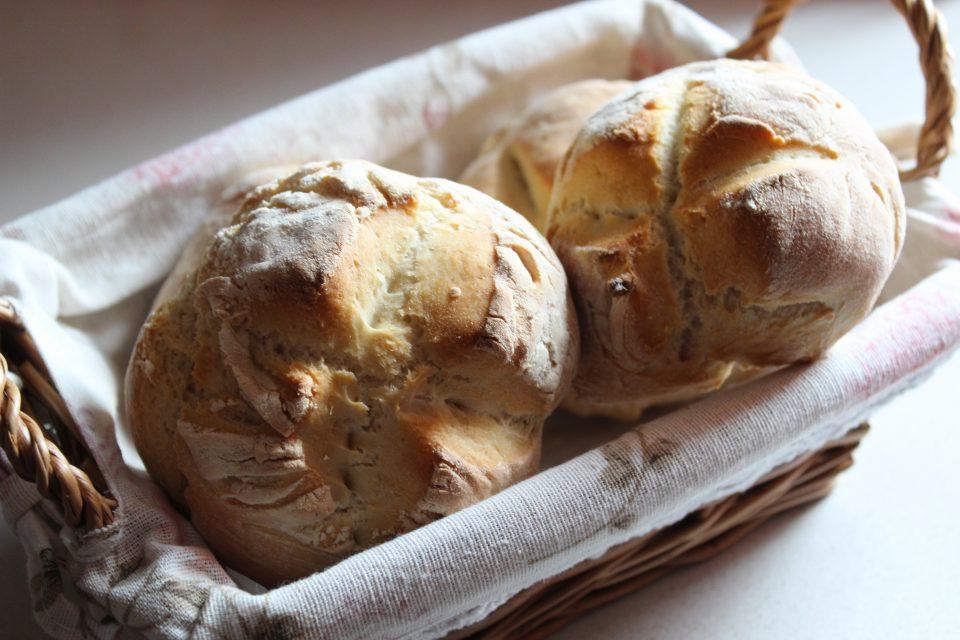pane con farina 00 e Manitoba
