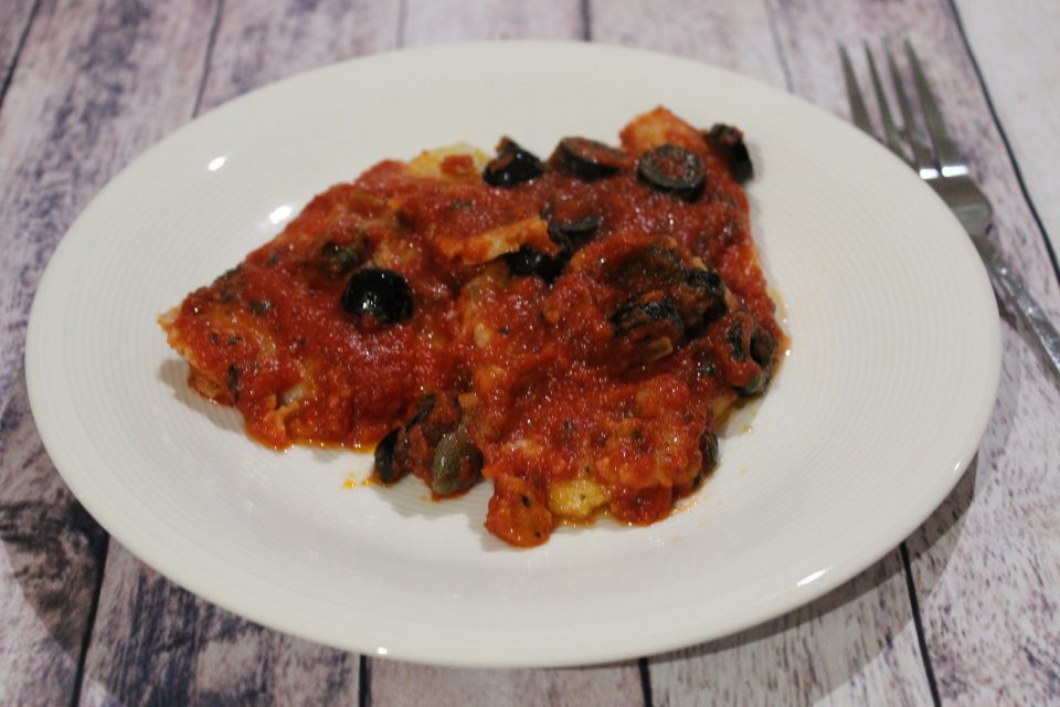 platessa olive e capperi
