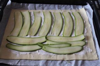 zucchine su pasta sfoglia