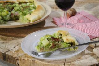 torta salata broccoli patate e speck