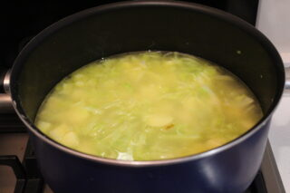 cottura crema di patate e porri
