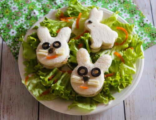 Coniglietti di pane tramezzino