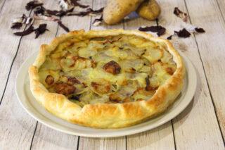 torta salata patate e radicchio