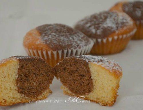 Muffin bicolore, ricetta dolce