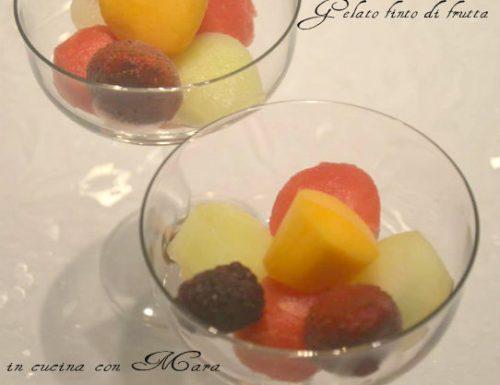 Gelato finto di frutta