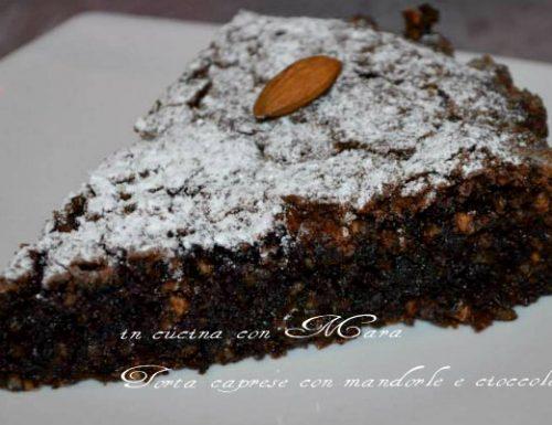 Torta caprese, dolce alle mandorle e cioccolato
