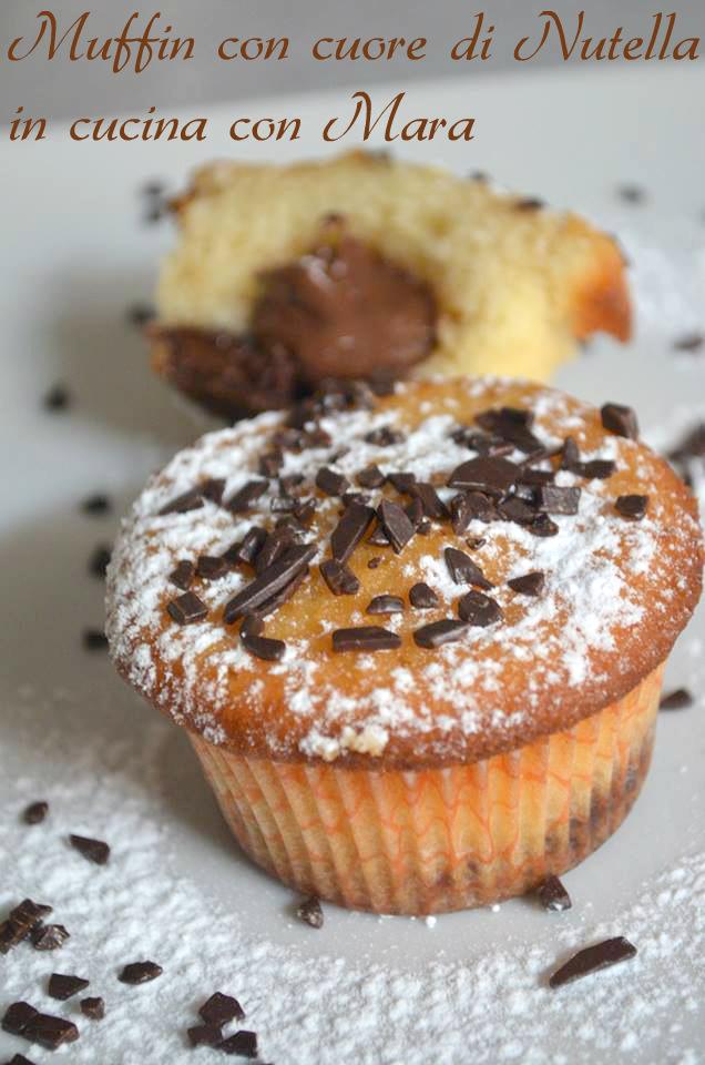 Muffin con cuore di Nutella  in cucina con Mara