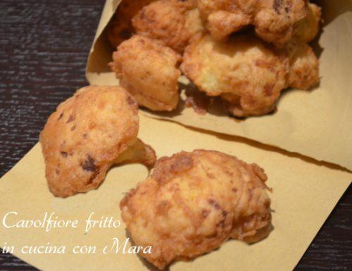 Cavolfiore fritto | ricetta contorno