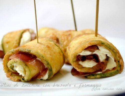 Involtini di zucchine con bresaola e formaggio
