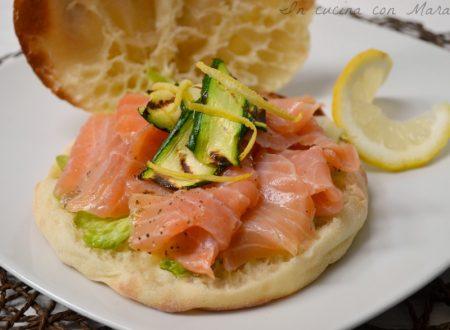 Puccia U-Tub con salmone e zucchine