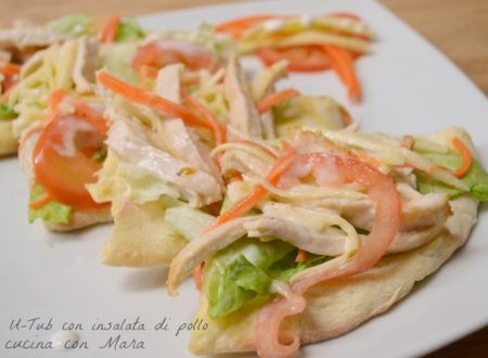 Pizza U-Tub con insalata di pollo
