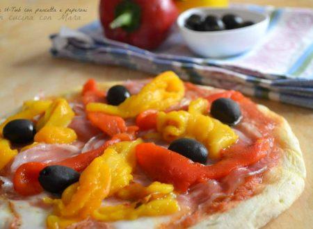 Pizza U-Tub con pancetta e peperoni