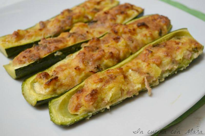 barchette di zucchine al tonno