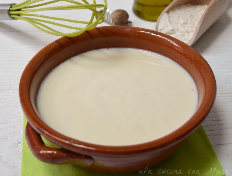 besciamella con olio di oliva