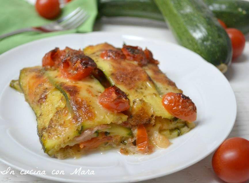 pasticcio di zucchine alla pizzaiola