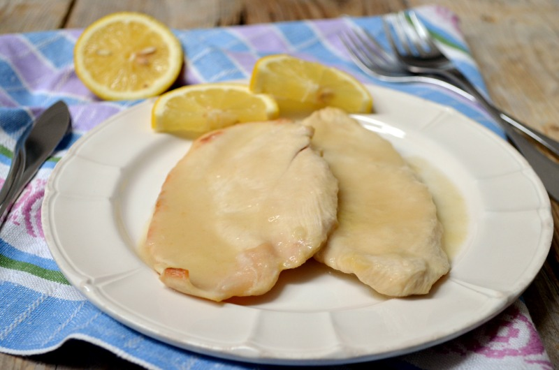 Scaloppine di pollo al limone