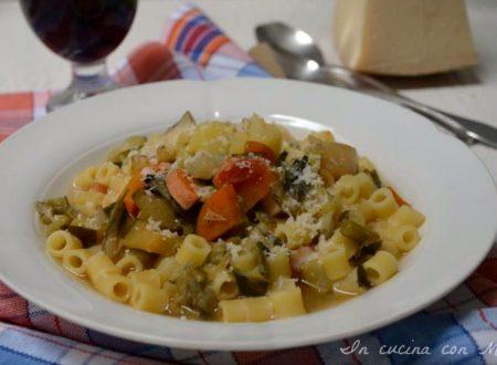 Minestrone di pasta e verdure