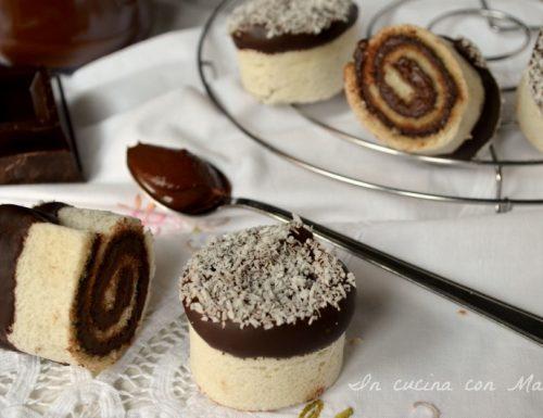 Girelle alla Nutella e cocco
