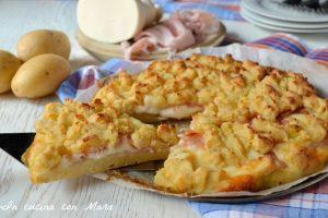Sbriciolata di patate e prosciutto