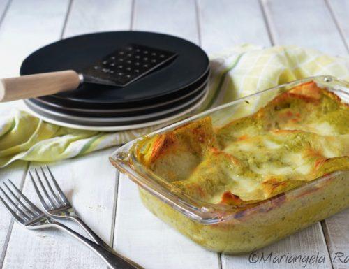 Lasagne con crema di zucchine e basilico