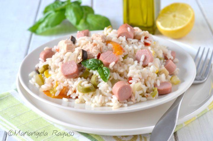 Insalata di riso con wurstel