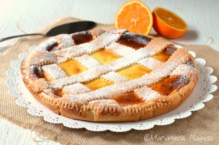 Crostata ricotta e arancia