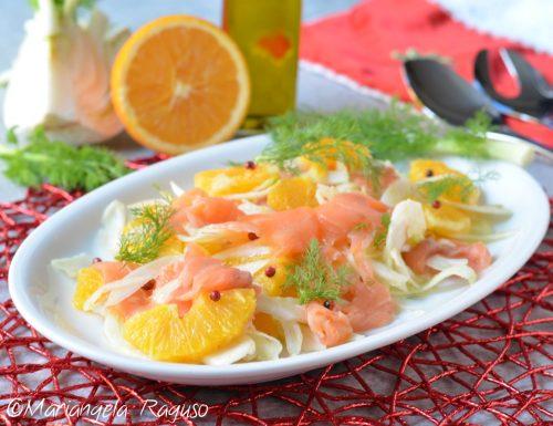 Insalata di arance finocchi e salmone