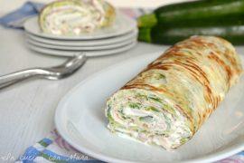 Rotolo di zucchine con formaggio e prosciutto cotto